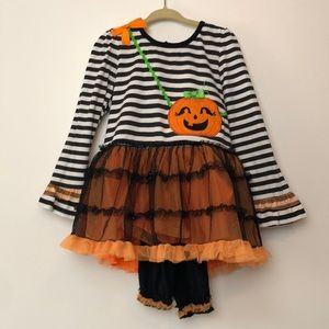 Nannette Kids l Halloween Tutu Top & Leggings